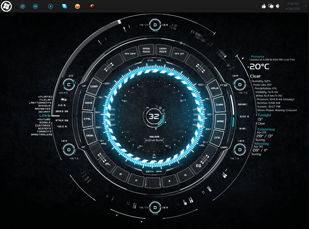 best rainmeter skins for windows 7